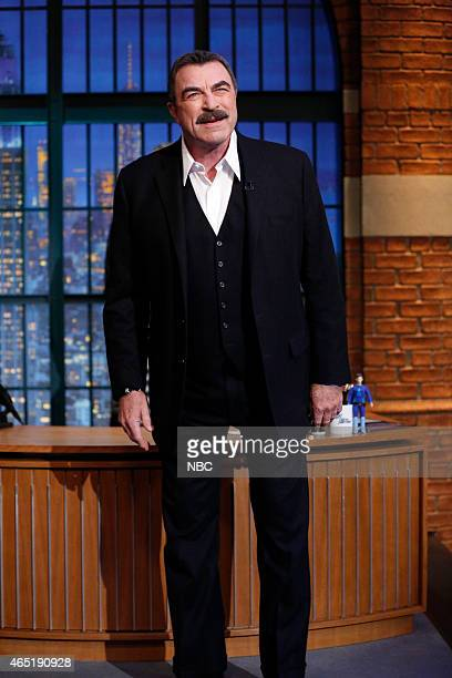 Actor Tom Selleck arrives on March 3 2015