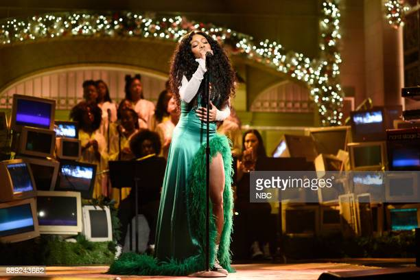 Musical Guest SZA performs 'The Weekend' in Studio 8H on Saturday December 9 2017