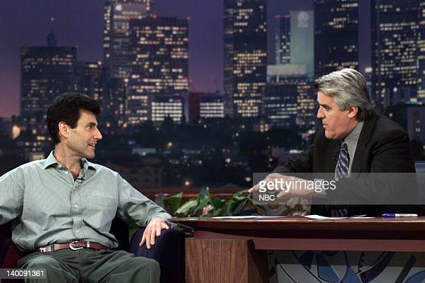 Psychic Uri Geller during an interview with host Jay Leno on January 05 2000