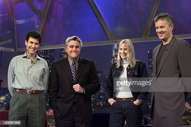 Psychic Uri Geller host Jay Leno musical guest Aimee Mann and actor Tim Robbins on January 05 2000