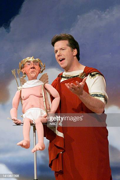 Walter as Cupid and Ventriloquist Jeff Dunham on February 14 2000