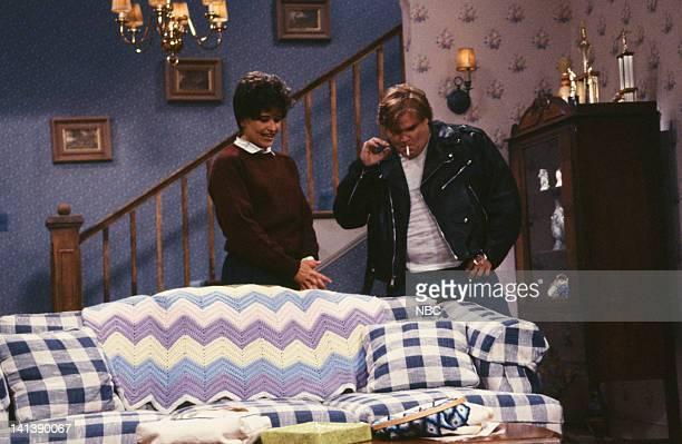 Jan Hooks as Mrs Novack Chris Farley as Doug during the 'Jennifer's Date' skit on April 20 1991 Photo by Alan Singer/NBC/NBCU Photo Bank