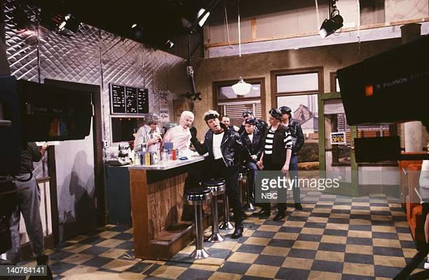 Nora Dunn as Pops' Wife Dana Carvey as Pops Alec Baldwin as Marlon Brando as Johnny Rob Schneider as Sidekick Mike Myers as Landfill during 'The...