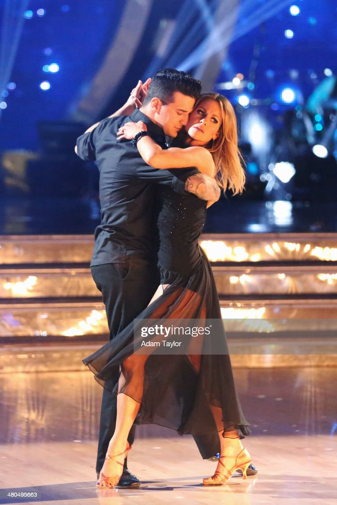 STARS - 'Episode 1802' - The competition heated up on 'Dancing with the Stars' as the celebrities took on a new style of dance, MONDAY, MARCH 24 (8:00-10:01 p.m., ET). Each couple performed a dance style of the celebrities choosing including Swing, Tango, Jive, Salsa, Samba, Rumba and the Cha Cha. The couples also faced the first nerve-racking round of elimination. (Photo by Adam Taylor/ABC via Getty Images) MARK BALLAS, CANDACE CAMERON BURE
