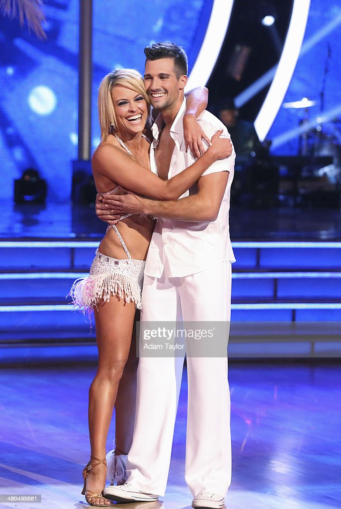 STARS - 'Episode 1802' - The competition heated up on 'Dancing with the Stars' as the celebrities took on a new style of dance, MONDAY, MARCH 24 (8:00-10:01 p.m., ET). Each couple performed a dance style of the celebrities choosing including Swing, Tango, Jive, Salsa, Samba, Rumba and the Cha Cha. The couples also faced the first nerve-racking round of elimination. (Photo by Adam Taylor/ABC via Getty Images)PETA MURGATROYD, JAMES MASLOW