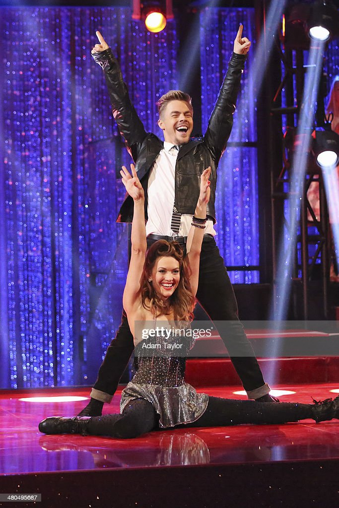 STARS - 'Episode 1802' - The competition heated up on 'Dancing with the Stars' as the celebrities took on a new style of dance, MONDAY, MARCH 24 (8:00-10:01 p.m., ET). Each couple performed a dance style of the celebrities choosing including Swing, Tango, Jive, Salsa, Samba, Rumba and the Cha Cha. The couples also faced the first nerve-racking round of elimination. DEREK