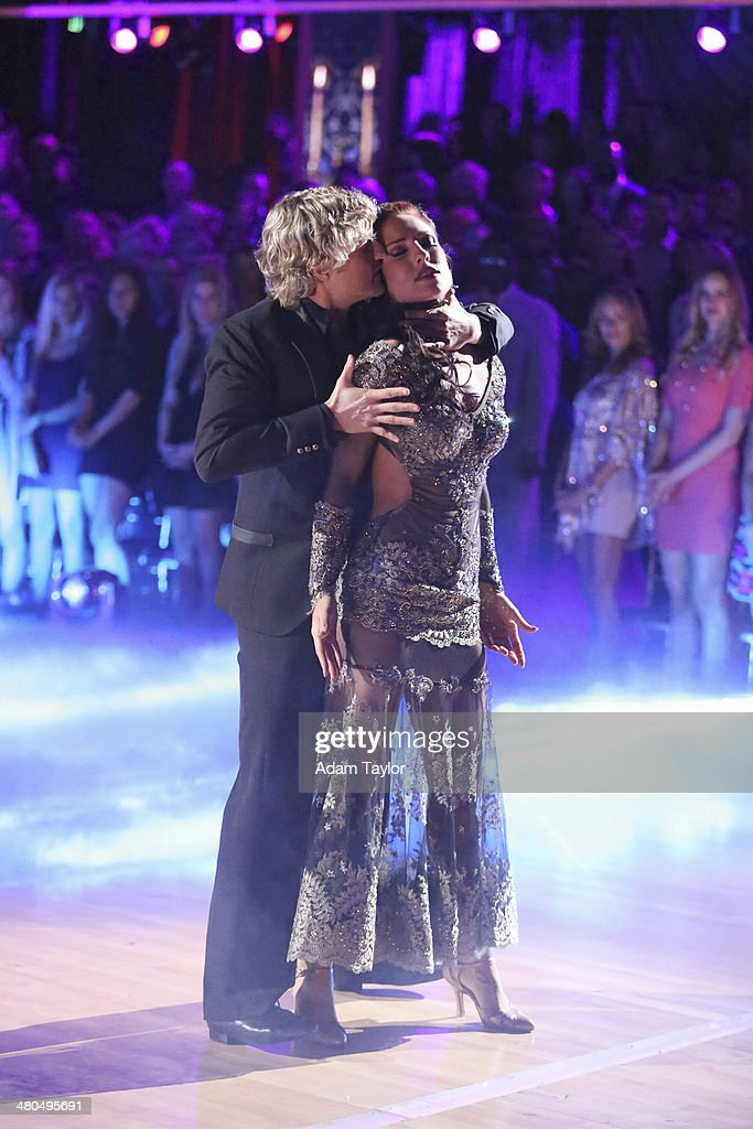 STARS - 'Episode 1802' - The competition heated up on 'Dancing with the Stars' as the celebrities took on a new style of dance, MONDAY, MARCH 24 (8:00-10:01 p.m., ET). Each couple performed a dance style of the celebrities choosing including Swing, Tango, Jive, Salsa, Samba, Rumba and the Cha Cha. The couples also faced the first nerve-racking round of elimination. BURGESS