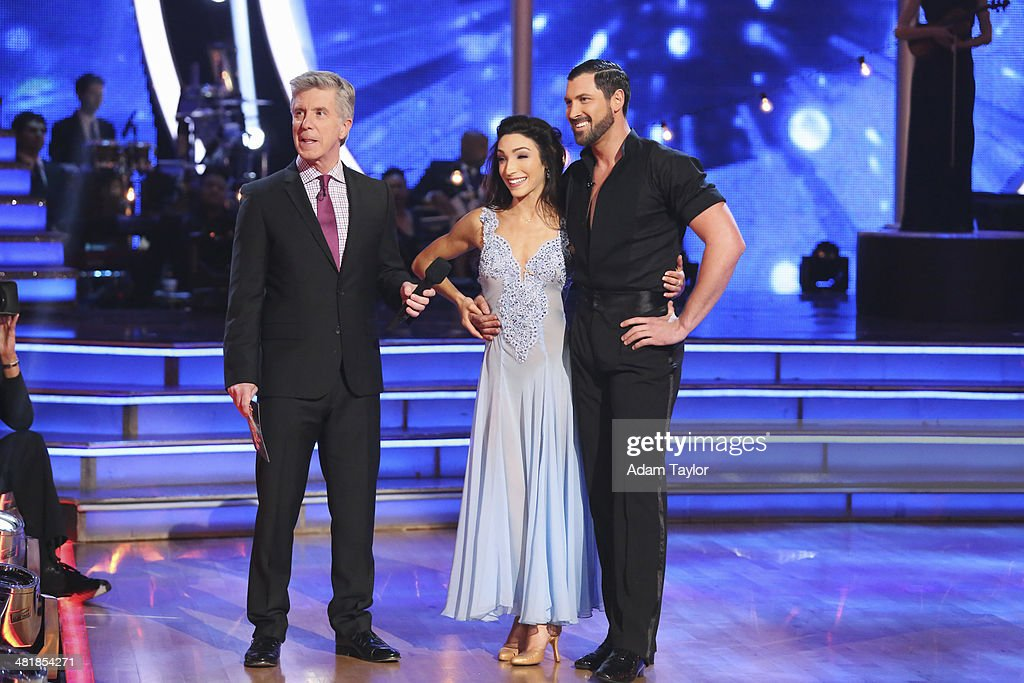 STARS - 'Episode 1803' - 'Good Morning America' anchor Robin Roberts was a guest judge for the first time alongside <a gi-track='captionPersonalityLinkClicked' href=/galleries/search?phrase=Len+Goodman&family=editorial&specificpeople=742714 ng-click='$event.stopPropagation()'>Len Goodman</a>, Bruno Tonioli and Carrie Ann Inaba on 'Dancing with the Stars,' MONDAY, MARCH 31 (8:00-10:01 p.m., ET). The remaining 10 celebrities commemorated 'The Most Memorable Year Of Their Life.' Each couple danced to a song of the celebrities choosing that encompassed a memorable time or experience in their life. TOM
