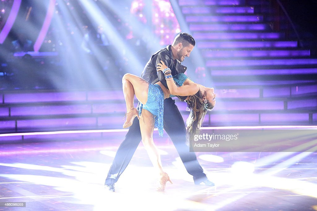 STARS - 'Episode 1806' - It's an all out celebration on 'Dancing with the Stars' as the celebrities got the party started MONDAY, APRIL 21 (8:00-10:01 p.m., ET) on the ABC Television Network. The show kicked off with a spectacular opening performance followed by each couple dancing to some of the greatest party anthems of all time. Additionally, LMFAO frontman Redfoo was the guest judge alongside Len Goodman, Bruno Tonioli and Carrie Ann Inaba. VALENTIN