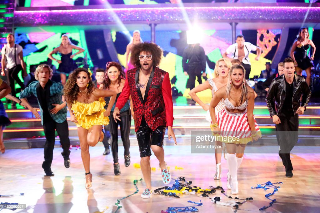 STARS - 'Episode 1806' - It's an all out celebration on 'Dancing with the Stars' as the celebrities got the party started MONDAY, APRIL 21 (8:00-10:01 p.m., ET) on the ABC Television Network. The show kicked off with a spectacular opening performance followed by each couple dancing to some of the greatest party anthems of all time. Additionally, LMFAO frontman <a gi-track='captionPersonalityLinkClicked' href=/galleries/search?phrase=Redfoo&family=editorial&specificpeople=5857552 ng-click='$event.stopPropagation()'>Redfoo</a> was the guest judge alongside Len Goodman, Bruno Tonioli and Carrie Ann Inaba. MASLOW