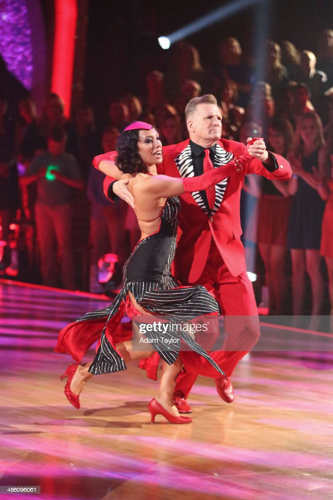 STARS - 'Episode 1806' - It's an all out celebration on 'Dancing with the Stars' as the celebrities got the party started MONDAY, APRIL 21 (8:00-10:01 p.m., ET) on the ABC Television Network. The show kicked off with a spectacular opening performance followed by each couple dancing to some of the greatest party anthems of all time. Additionally, LMFAO frontman Redfoo was the guest judge alongside Len Goodman, Bruno Tonioli and Carrie Ann Inaba. CAREY