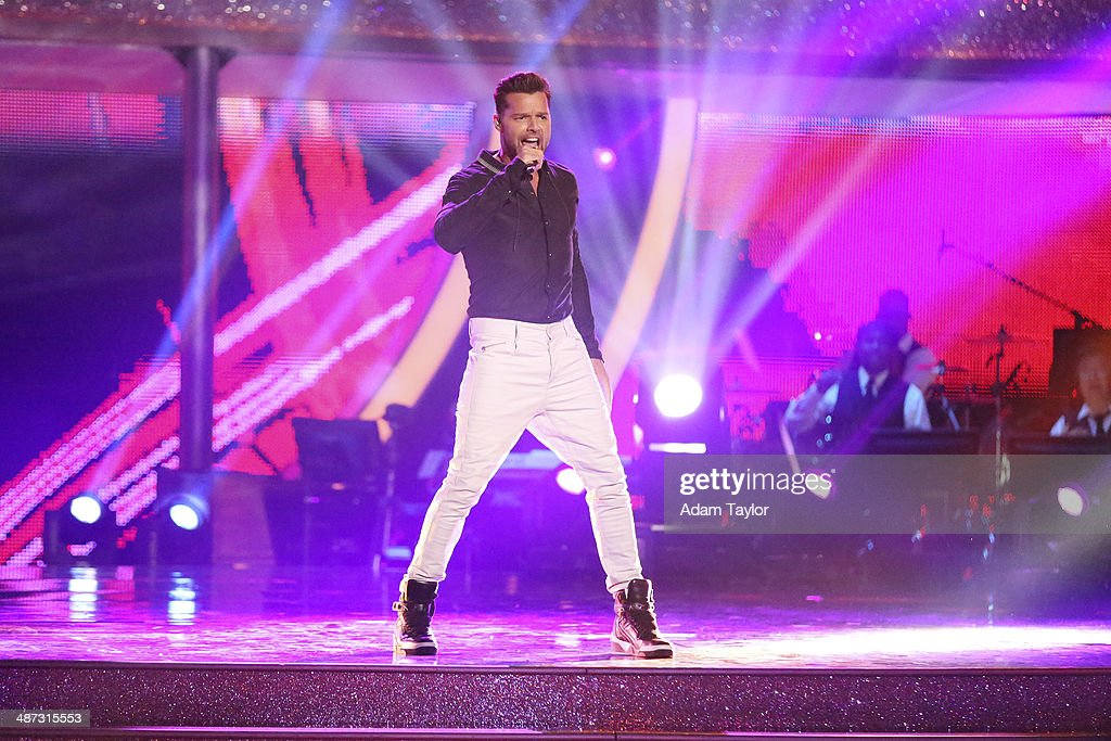 STARS - 'Episode 1807' - Grammy(r) winner <a gi-track='captionPersonalityLinkClicked' href=/galleries/search?phrase=Ricky+Martin&family=editorial&specificpeople=160450 ng-click='$event.stopPropagation()'>Ricky Martin</a> joined 'Dancing with the Stars' for 'Latin Night' MONDAY, APRIL 28 (8:00-10:01 p.m., ET) on the ABC Television Network. Martin kicked-off the night with a show-stopping opening performance of his 2014 World Cup song 'Vida' accompanied by the Pro Dancers. MARTIN