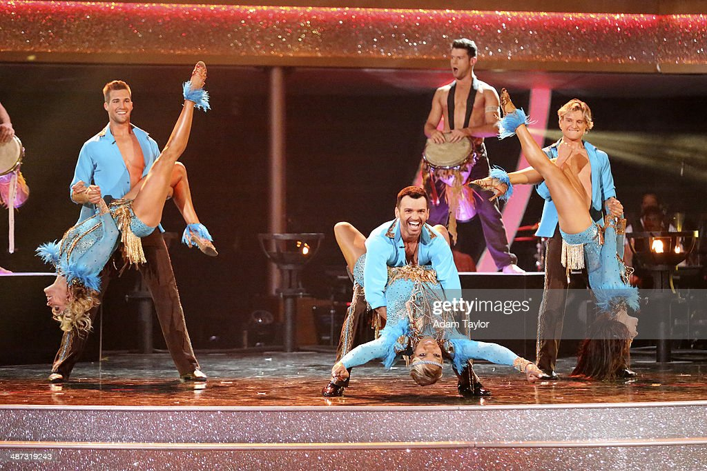 STARS - 'Episode 1807' - Grammy(r) winner Ricky Martin joined 'Dancing with the Stars' for 'Latin Night' MONDAY, APRIL 28 (8:00-10:01 p.m., ET) on the ABC Television Network. He joined Len Goodman, Bruno Tonioli and Carrie Ann Inaba as a guest judge for the evening. Each couple performed an individual dance to a song with a Latin theme. Additionally, the competition included two Latin inspired team dances. BURGESS