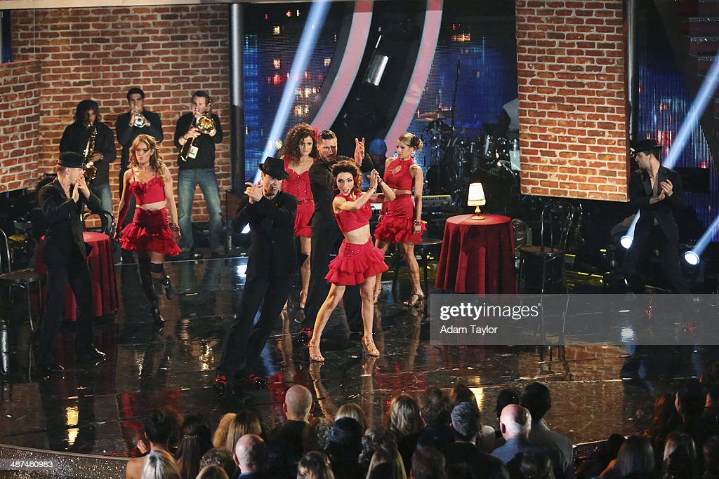 STARS - 'Episode 1807' - Grammy(r) winner Ricky Martin joined 'Dancing with the Stars' for 'Latin Night' MONDAY, APRIL 28 (8:00-10:01 p.m., ET) on the ABC Television Network. He joined Len Goodman, Bruno Tonioli and Carrie Ann Inaba as a guest judge for the evening. Each couple performed an individual dance to a song with a Latin theme. Additionally, the competition included two Latin inspired team dances. BALLAS