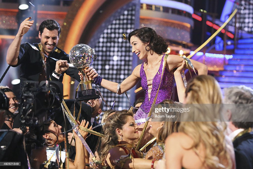 STARS - 'Episode 1810A' - At the end of the night, Meryl Davis and Maksim Chmerkovskiy were crowned the Season 18 Champions, on the Season Finale, TUESDAY, MAY 20 (9:00-11:00 p.m., ET) on the ABC Television Network. MAKSIM