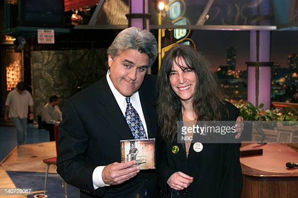 Host Jay Leno and musical guest Patti Smith on April 11 2000