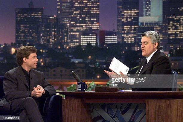 Sportscaster Bob Costas during an interview with host Jay Leno on April 17 2000