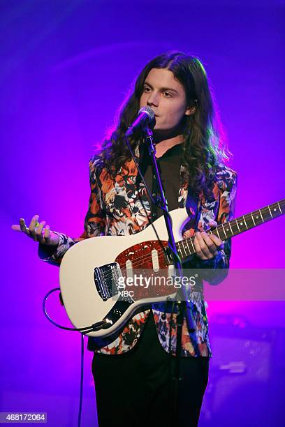 Musical guest BØRNS performs on March 30 2015