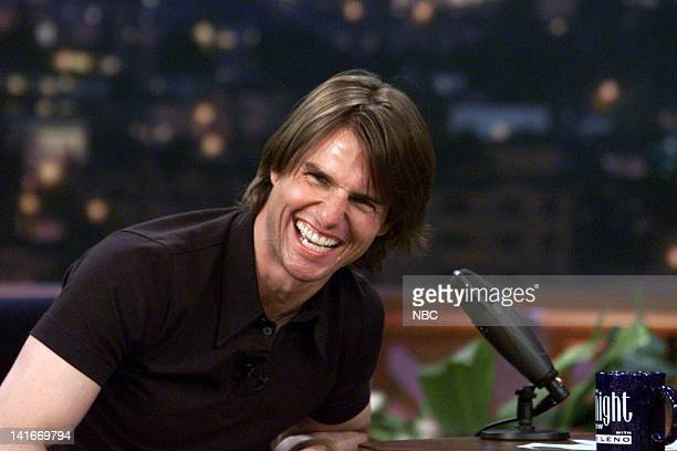 Actor Tom Cruise during an interview with host Jay Leno on May 18 2000