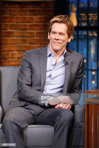 Actor Kevin Bacon during an interview on March 31 2015