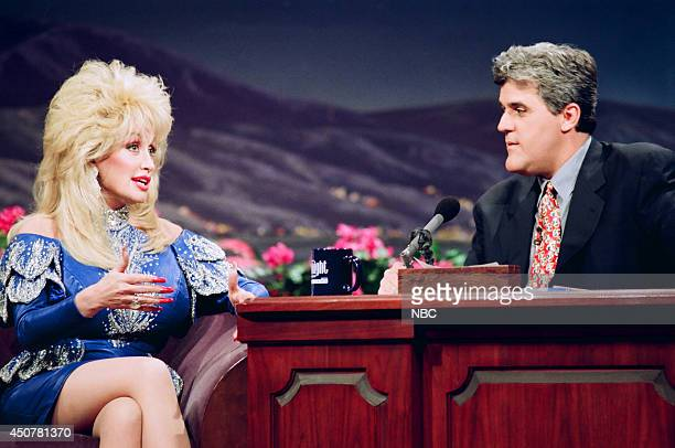 Singer Dolly Parton during an interview with host Jay Leno on March 5 1993
