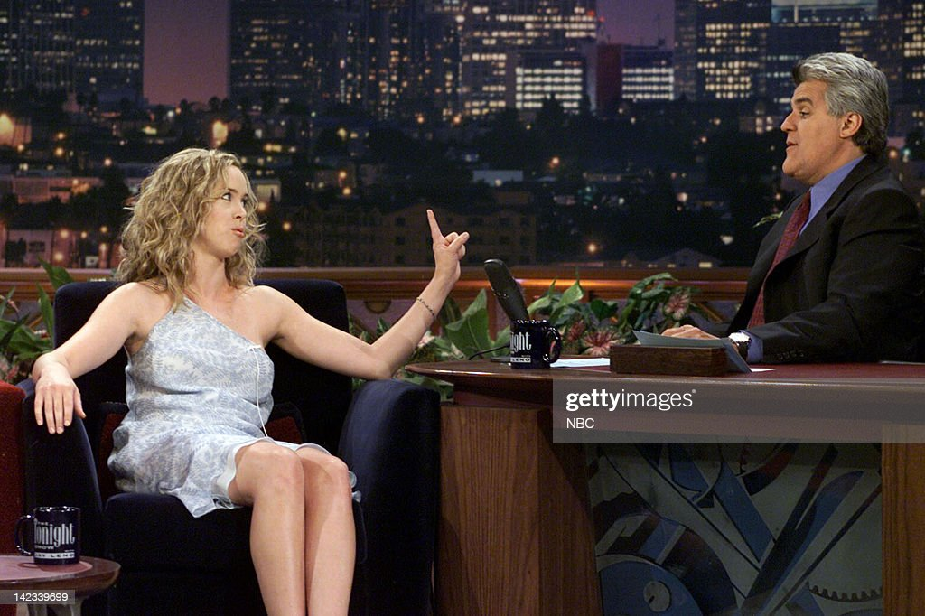 Actress Heather Donahue during an interview with host Jay Leno on June 9 2000