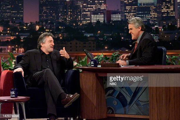Actor Robert De Niro during an interview with host Jay Leno on June 23 2000