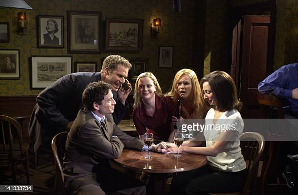 LIVE Episode 19 Air Date Pictured Chris Kattan Will Ferrell Amy Poehler Kirsten Dunst Maya Rudolph during the 'Background Actors' skit on May 5 2002...