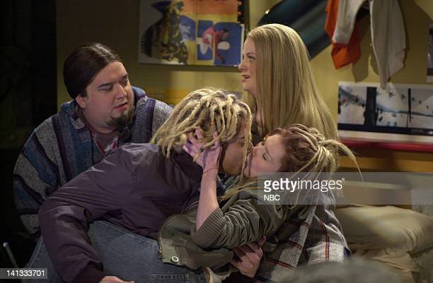 LIVE Episode 19 Air Date Pictured Horatio Sanz as Gobi Jimmy Fallon as Jarret Amy Poehler as Mouse Kirsten Dunst as Janet during the 'Jarret's Room'...