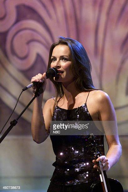 Sharon Corr of the musical guest The Corrs performs on September 13 2000