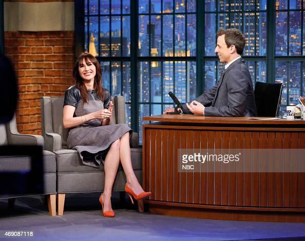 Actress Carice van Houten during an interview with host Seth Meyers on April 9 2015
