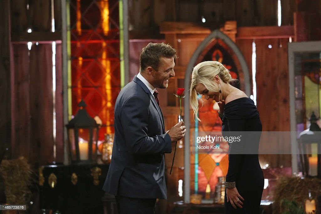 THE BACHELOR - 'Episode 1910' - The compelling live three-hour television event began as America watched along with the studio audience as Chris Soules' journey to find love came to its astonishing conclusion. Chris proposed to Whitney Bischoff, the woman of his dreams, on the Season Finale of 'The Bachelor,' MONDAY, MARCH 9 (8:00-10:01 p.m., ET), on the ABC Television Network. (Photo by Nicole Kohl/ABC via Getty Images)CHRIS