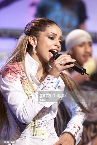 Musical guest Mya performs on November 6 2000