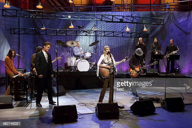 Musical guest Aimee Mann performs on November 8 2000