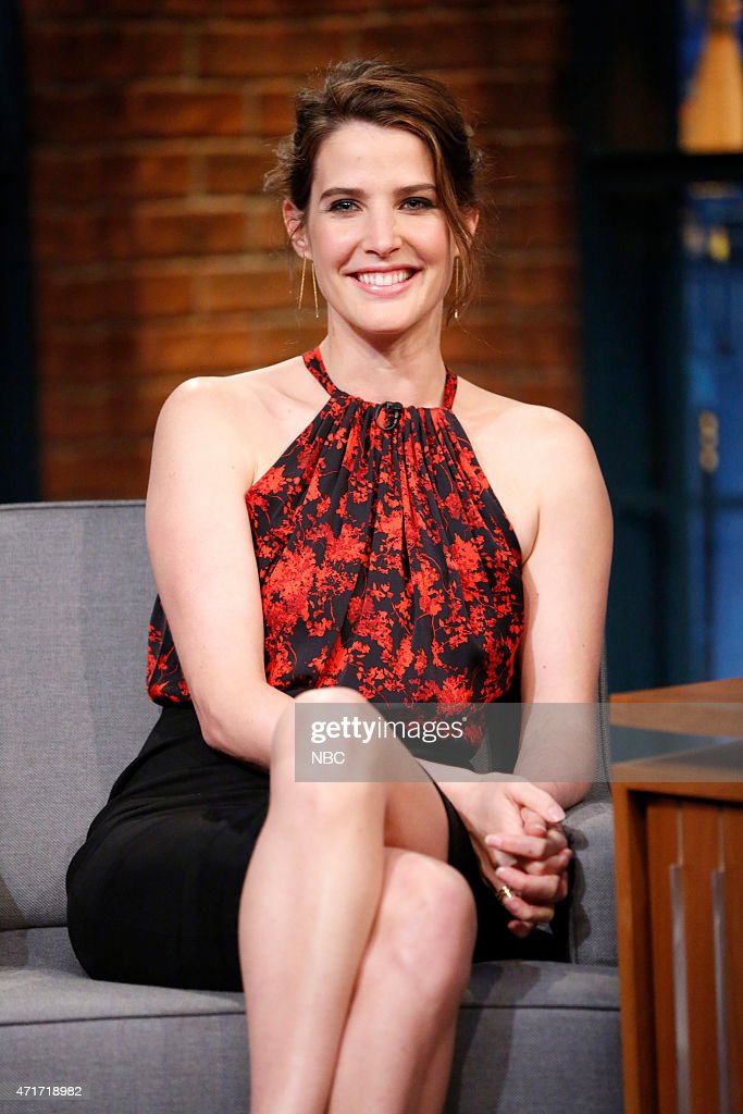 Actress <a gi-track='captionPersonalityLinkClicked' href=/galleries/search?phrase=Cobie+Smulders&family=editorial&specificpeople=739940 ng-click='$event.stopPropagation()'>Cobie Smulders</a> during an interview on April 30, 2015 --