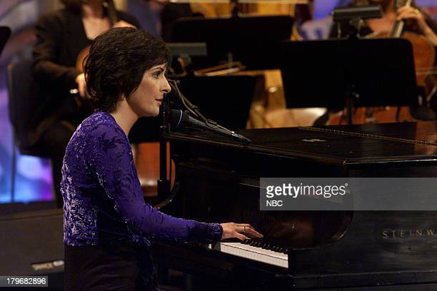 Musical guest Enya performs on February 12 2001