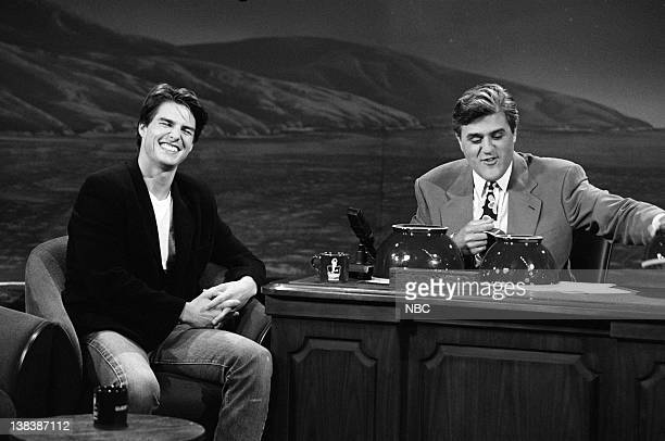 LENO Episode 2 Air Date Pictured Actor Tom Cruise during an interview with host Jay Leno on May 26 1992