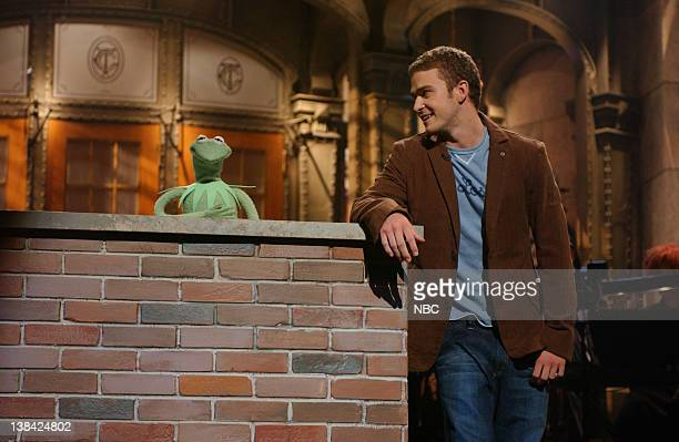 LIVE Episode 2 Air Date Pictured Kermit the Frog Justin Timberlake during 'The Rainbow Connection' skit on October 11 2003