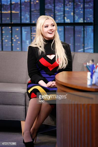 Actress Abigail Breslin during an interview on May 4 2015