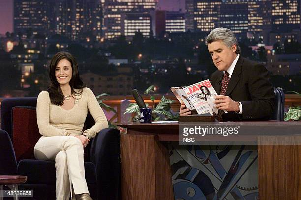 Actress Courteney Cox during an interview with host Jay Leno on February 20 2001