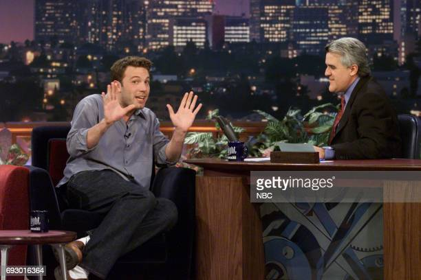 Actor Ben Affleck during an interview with host Jay Leno on February 28 2001