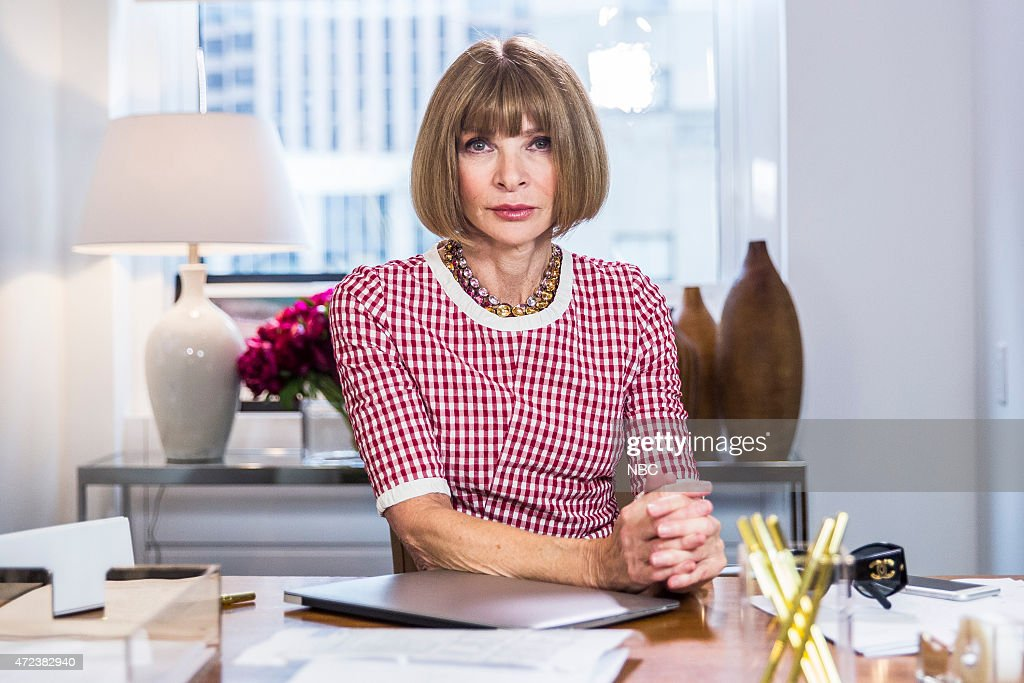 <a gi-track='captionPersonalityLinkClicked' href=/galleries/search?phrase=Anna+Wintour&family=editorial&specificpeople=202210 ng-click='$event.stopPropagation()'>Anna Wintour</a> during the '<a gi-track='captionPersonalityLinkClicked' href=/galleries/search?phrase=Anna+Wintour&family=editorial&specificpeople=202210 ng-click='$event.stopPropagation()'>Anna Wintour</a>: Comedy Icon' skit May 6, 2015 --