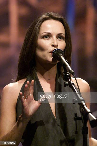 Musical guest Sharon Corr performs on March 21 2001
