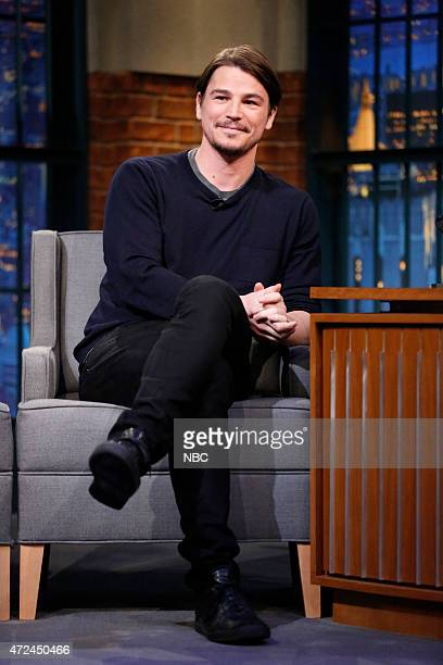 Actor Josh Hartnett during an interview on May 7 2015