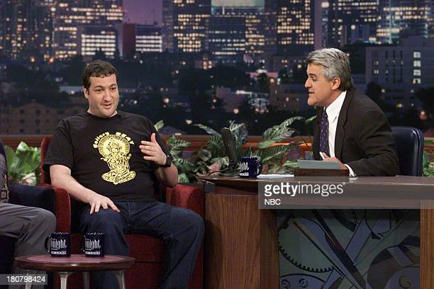 Photographer Spencer Tunick during an interview with host Jay Leno on April 30 2001