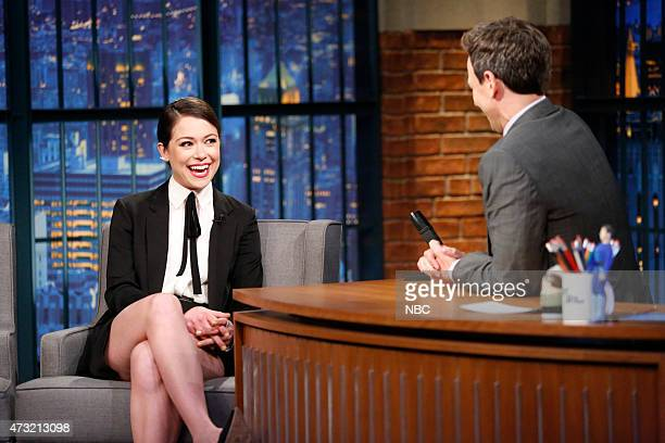 Actress Tatiana Maslany during an interview with host Seth Meyers on May 13 2015