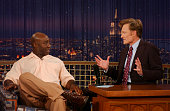 Actor Michael Clarke Duncan during an interview with host Conan O'Brien