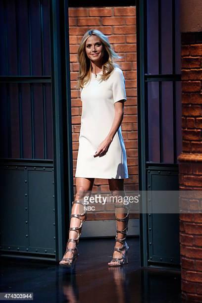 Model Heidi Klum arrives on May 21 2015