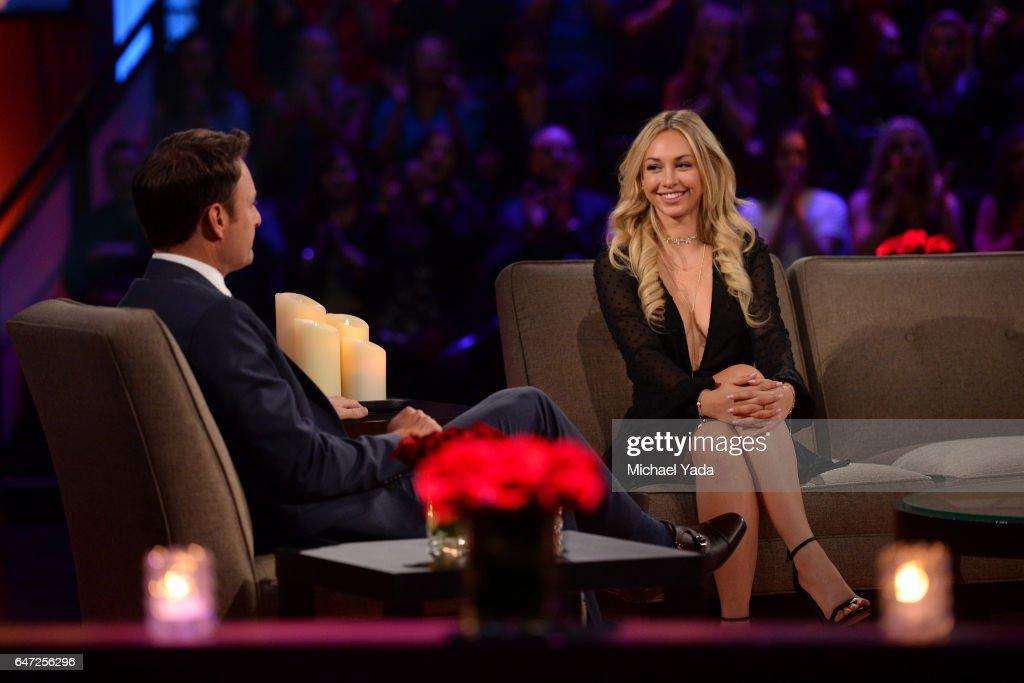 THE BACHELOR - 'Episode 2111 - The Women Tell All' - Tempers flare and there are plenty of fireworks, as 19 of the most memorable women this season are back to confront Nick and tell their side of the story. There were highs and lows during Nick's unforgettable season - and then there was Corinne, the most controversial bachelorette of the group. The very self-confident Corinne, who has been the woman viewers and the other bachelorettes have loved to hate, returns to have her chance to defend herself. Rachel, the recently announced new Bachelorette, shares some insight into how she plans to handle her search for love. Danielle L. and Kristina attempt to get some closure to their sudden and heart-wrenching break-ups. Then, take a sneak peak at the dramatic season finale and Nick's final two women, on 'The Bachelor: The Women Tell All,' MONDAY, MARCH 6 (9:01-11:00 p.m. EST), on The ABC Television Network. HARRISON, CORINNE