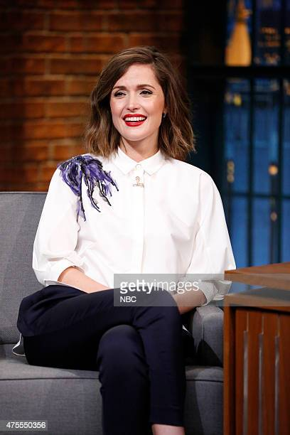 Actress Rose Byrne during an interview on June 1 2015